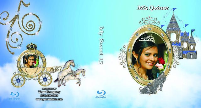 100 cubiertas Azules del rayo de Photoshop PSD para Quinceaneras ...
