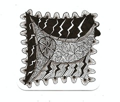 When Lightning Strikes (theHyperMonkey) Tags: art tile drawing doodle zentangle