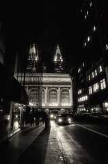 Nightscene in New York (guiba6) Tags: leica blackandwhite newyork night lights explore grandcentralstation chryslerbuilding leicam9 superelmar18