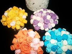 The Rose collection (bendy cocoa) Tags: pink blue wedding roses party orange yellow anniversary centre lilac cupcake piece fondant