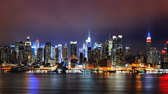 midtown manhattan from hamilton park (andrew c mace) Tags: nyc newyorkcity longexposure urban panorama skyline night newjersey cityscape cloudy manhattan pano rockefellercenter midtown timessquare hudsonriver empirestatebuilding chryslerbuilding 42ndstreet presidentsday bankofamericatower ussintrepid hugin hamiltonpark newyorktimesbuilding photomatix nikkor70300mm colorefex nikoncapturenx nikond90
