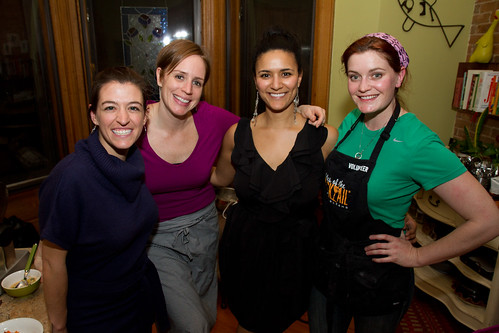 With our super talented, hard-working chefs (L-R) Kara Masi, Sarah Simmons and Meghan Martino.