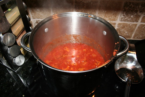 Pomodoro Sauce: Simmering