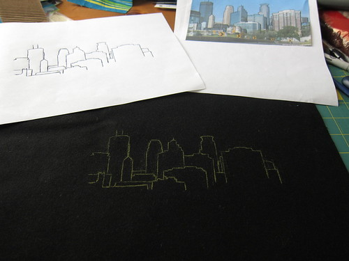 Iron Craft Challenge #8 - Minneapolis Skyline Pillow