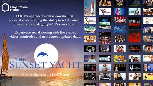 Sunset Yacht: PlayStation Home