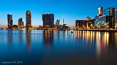 90 seconds and a purple pinky / Rijnhaven / Rotterdam (zzapback) Tags: new city blue holland reflection netherlands dutch architecture photography rotterdam nikon orleans europe long exposure blauw cityscape fotografie angle kade wide nederland sigma le enjoy hour montevideo koolhaas kopvanzuid 1224mm stad olanda 010 architectuur erasmusbrug zuidholland reflectie uwa worldportcenter uur rotjeknor inholland kvz derotterdam wilhelminapier groothoek nieuweluxor rijnhaven 2013 d700 robdevoogd robertdevoogd