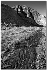 Meltdown (Reid Wolcott) Tags: county mud fremont pile layers wyoming wy banded badland shoshoni nands