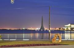 The Becon at KAUST (Loic Marnat) Tags: architecture night landscape nikon bestof nightlight paysage nuit 50mmf18 travelguide visittheworld becon notedited poselongue kaust d300s lumiresdenuit