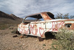 Abandoned car, Rhyolite