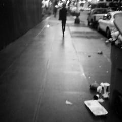 trash, at night (thespeak) Tags: urban oregon trash square portland december lomolca cropped pdx 2009 autaut