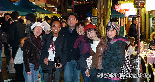 Rachel and I with a group of international students in Chinatown