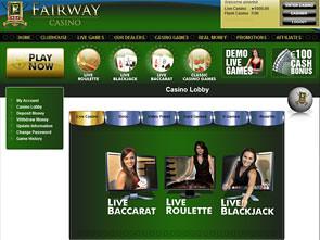 Fairway Live Casino Lobby