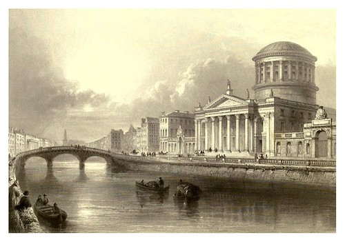 022-Los cuatro tribunales-Dublin-The scenery and antiquities of Ireland -Vol II-1842-W. H. Bartlett