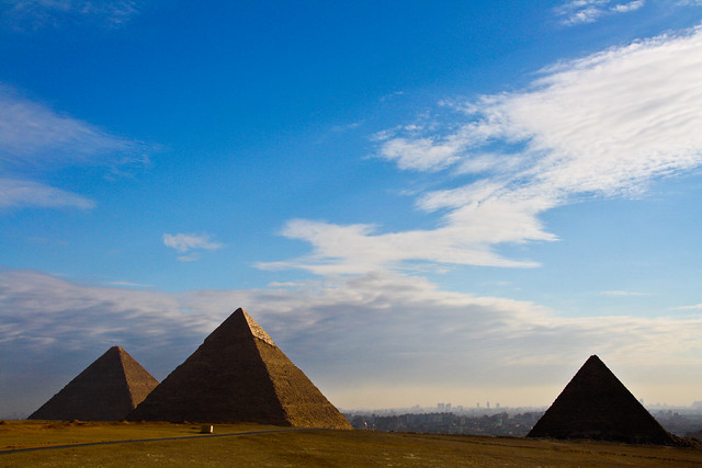 The sky over the History, Giza, Cairo, Egypt