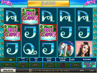 free Thai Paradise slot scatters