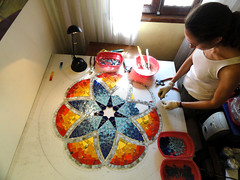 Work in progress - Mandala III (fernanda jaton) Tags: art arte mosaic workinprogress mosaico mandala pasoapaso jaton mosaiquismo