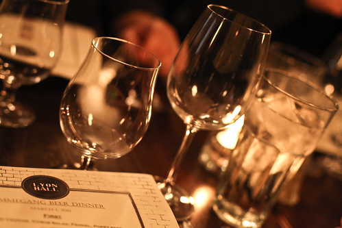 Lyon Hall's Ommegang Beer Dinner