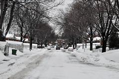 Winter's End (caribb) Tags: street city winter urban snow canada montréal quebec montreal hiver québec neige mercier ville 2011