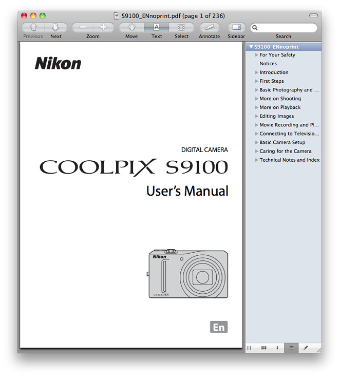 Nikon S9100 Manual