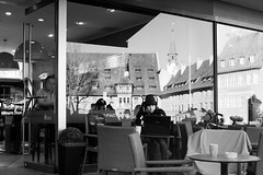 Open Communication (gman_garry) Tags: bw bavaria cafe 7d streetscenes nuernberg 28mmf18 2011