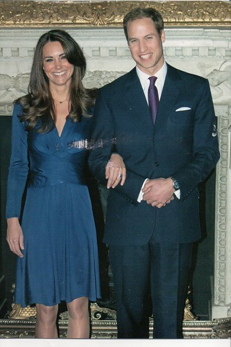 Prince William and Catherine Middleton Engagement Postcard