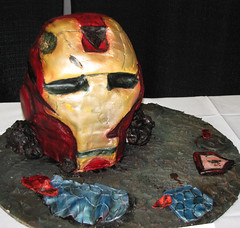 Ironman Sculpted Cake