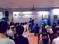 Serangoon Public Library official opening 11 Mar 201126