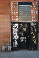 The Old T K Pharmacy (GC_Dean) Tags: urban graffiti buildingdetail entrance denvercolorado