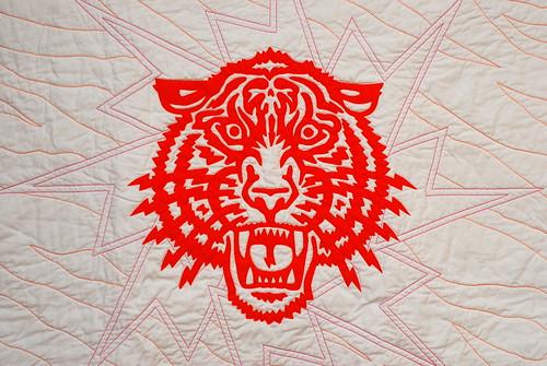 Tiger Quilt close
