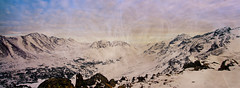 Peak 2 Backside (Pan) (Tyler.Derosier) Tags: winter panorama snow mountains alaska scenic ak panoramic anchorage flattop peak2