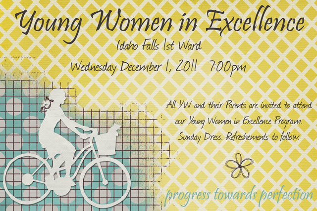 YW in Excellence Invitation