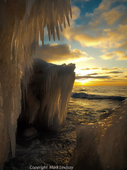 Fang Ice in Lake Michigan (Happyhiker4) Tags: