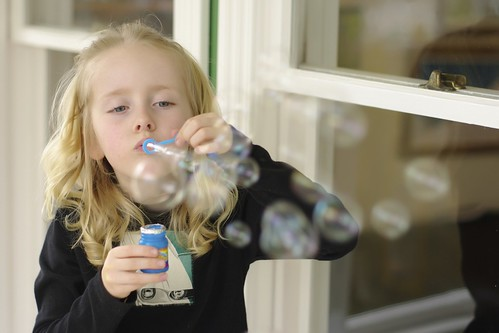 Getting lost in a moment of bubbles