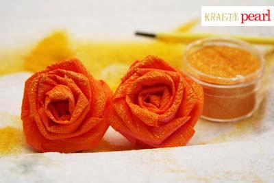 blog - crepe paper roses smooch spritz glitter