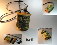 Inro-Bambus (Ingul-design) Tags: necklace handmade unique jewelry polymerclay kette handarbeit unikat inro handcraftet