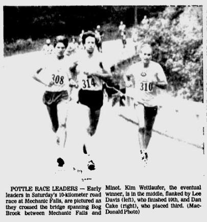 1st Annual Pottle Hill 10K 1982