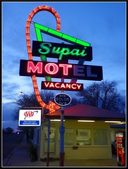 Supai Motel on Route 66 (Dusty_73) Tags: road trip arizona usa sign america vintage neon mother motel az 66 route american signage states roadside iconic aaa seligman supai uinted