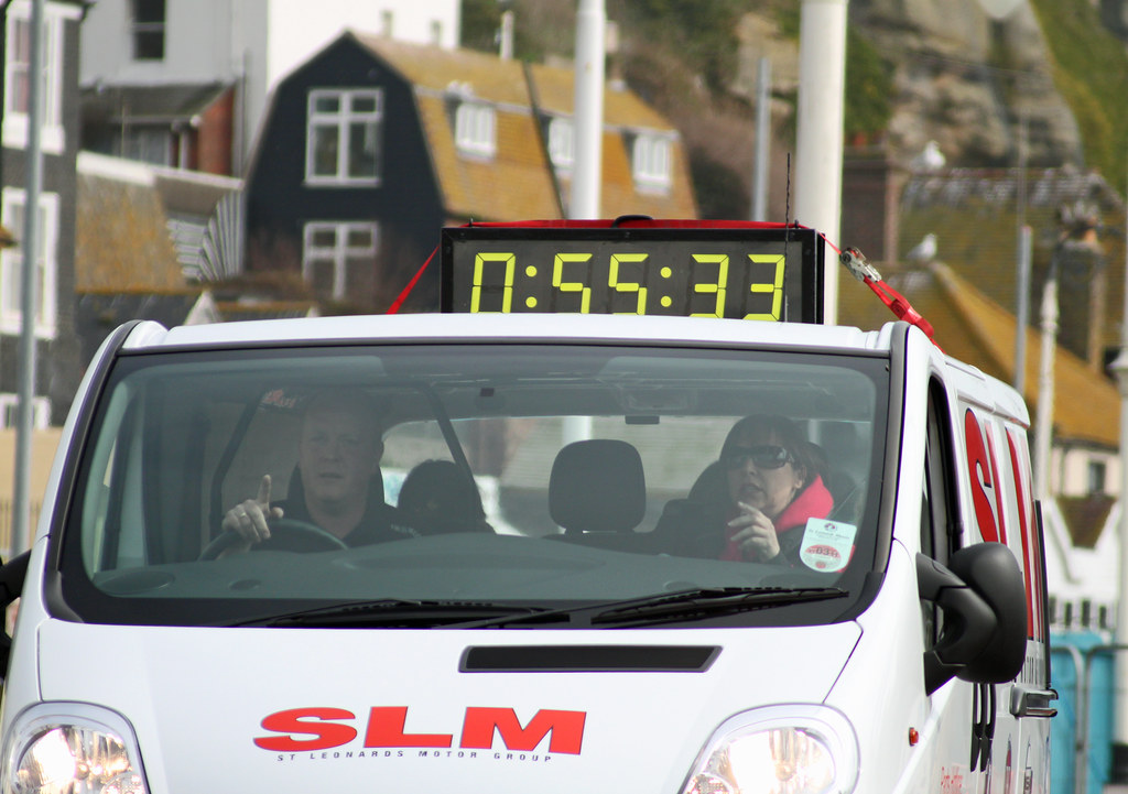 Hastings half marathon 2011 SLM timing vehicle