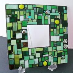 Green Light Go (Red Crow Arts - Judy) Tags: mirror stainedglass greenlight swirl redcrowarts