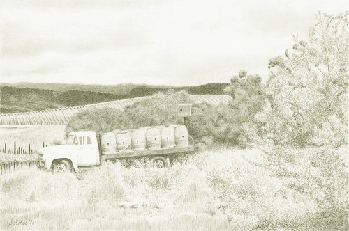 Reynolds Family Winery, Napa, California, graphite
