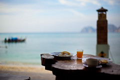 Morning breakfast (dennis lo designs) Tags: ocean sunset summer beach nature beautiful canon lens landscape asian thailand island prime bay asia paradise raw phiphi maya scenic bluesky tropical phuket whitesand kohphiphi krabi phiphidon mark2 phiphileh 5d2