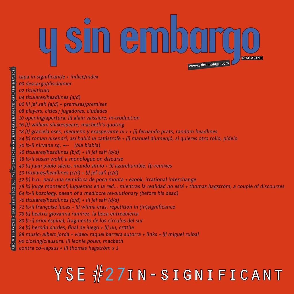 Y SIN EMBARGO magazine #27