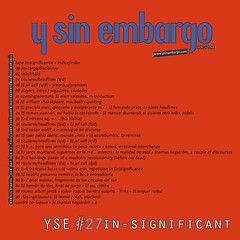 Y SIN EMBARGO magazine #27, in-significant (free, independent)