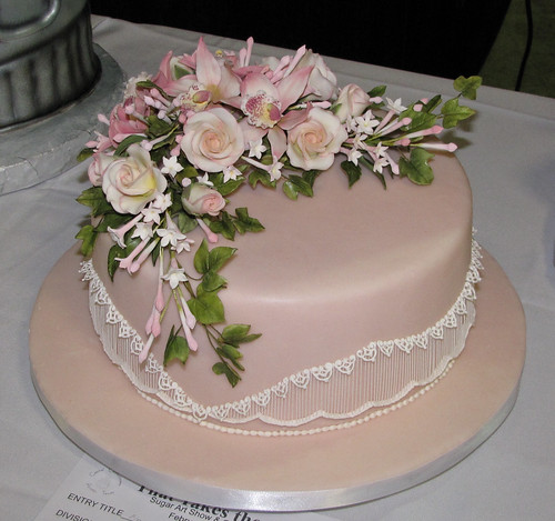 floral tiered cake. Any non-tiered cake with a