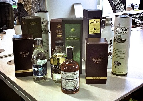 A photo of Kyan's latest whisky order.