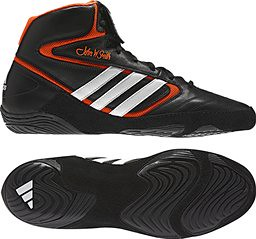 adidas Mat Wizard IV Black Red (Orangish) wrestling shoes