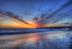 Another Day, Another Sunset... (Didenze) Tags: blue sunset sky color texture beach clouds reflections glow danapoint hdr capistranobeach canon450d hdrspotting didenze