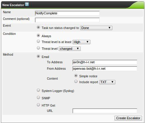 HiR Information Report: OpenVAS & Greenbone Security