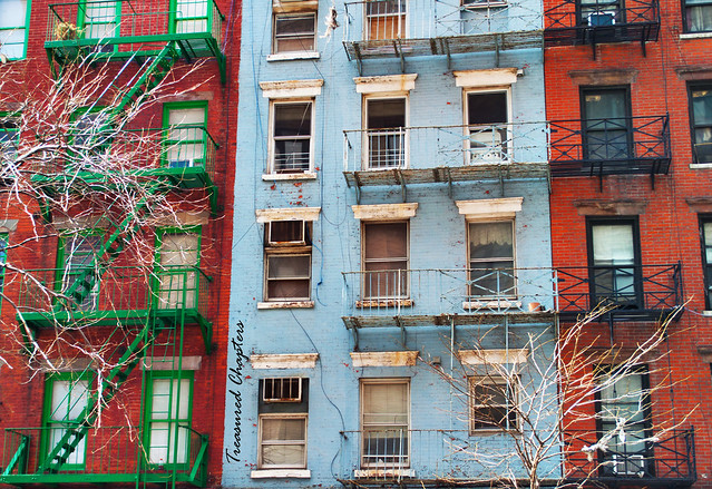 colorful fire escapes