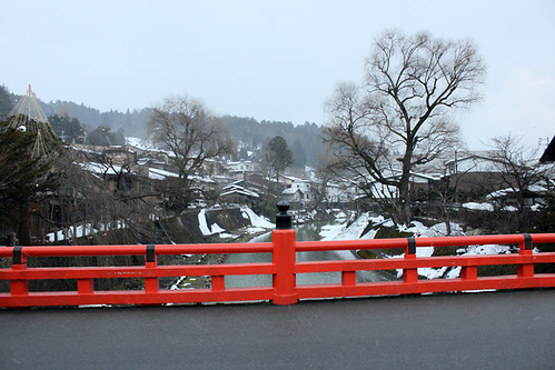 The famous bridge in Takayama